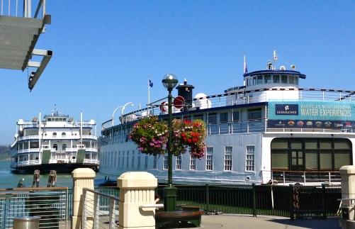 Ferries in the harbor.