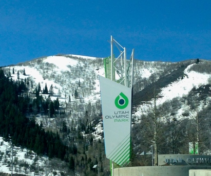 Entering Olympic Park in Park City.